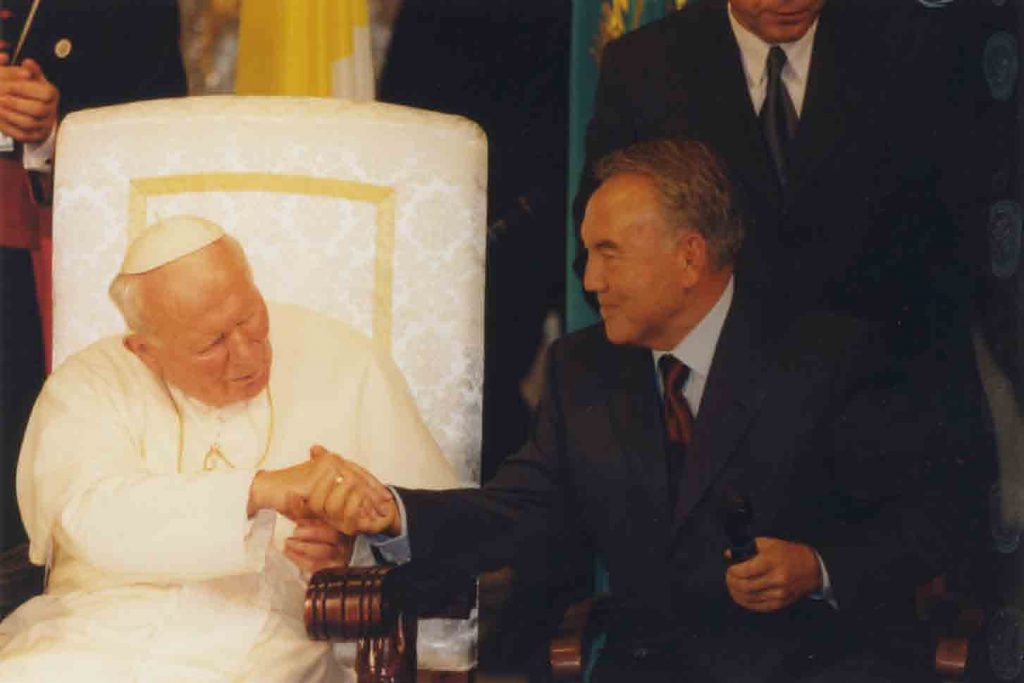 Иоанн Павел II и Нурсултан Назарбаев