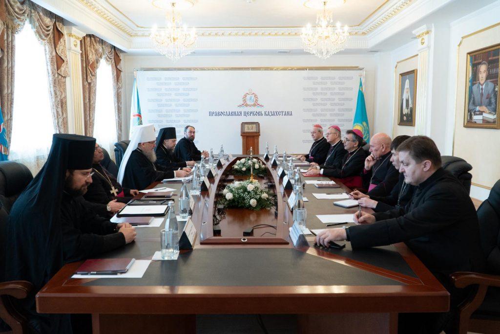 Первая в этом году встреча Совета традиционных христианских конфессий состоялась в Нур-Султане