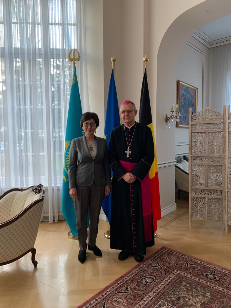 Archbishop Tomash Peta celebrated Mass in the European Parliament