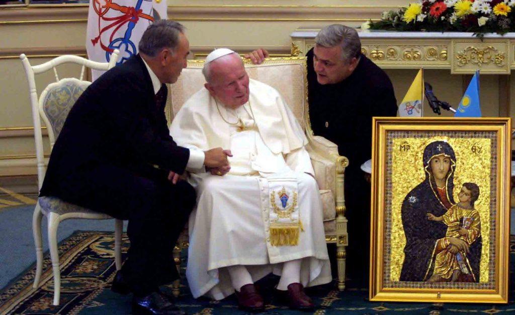 Слово Иоанна Павла II во время посещения президента Казахстана